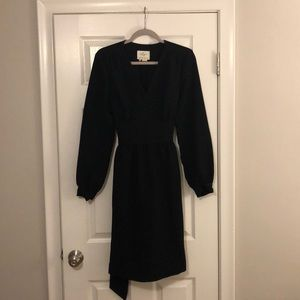 Kate Spade formal black mid length tie dress